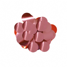 Metallic Light Pink Foil Confetti | 10mm Metallic Round | 50g Bag